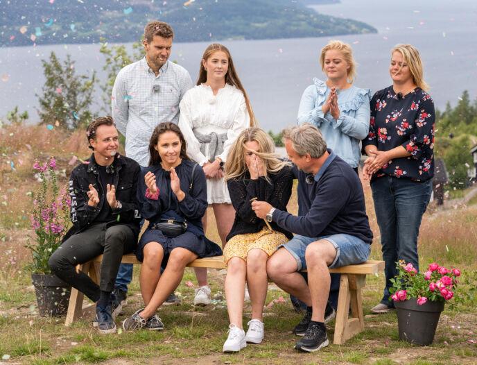 VANT HYTTA: Far og datter Kurt og Veronica stakk av med både seier og hytte. Foto: Espen Solli / TV 2