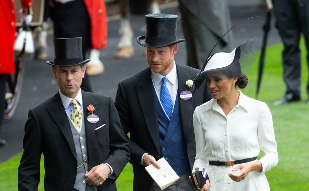 INTERVJU: Prins Edward snakker om Meghan og Harry i nye intervjuer med BBC og CNN. Her er de samlet i juni 2018. Foto: David Hartley / REX / NTB