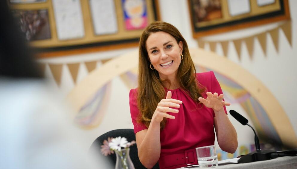 NIESE: Hertuginne Kate ser frem til å treffe prins Harry og hertuginne Meghans nyfødte datter om ikke altfor lang tid. Foto: Aaron Chown / Pool / REUTERS