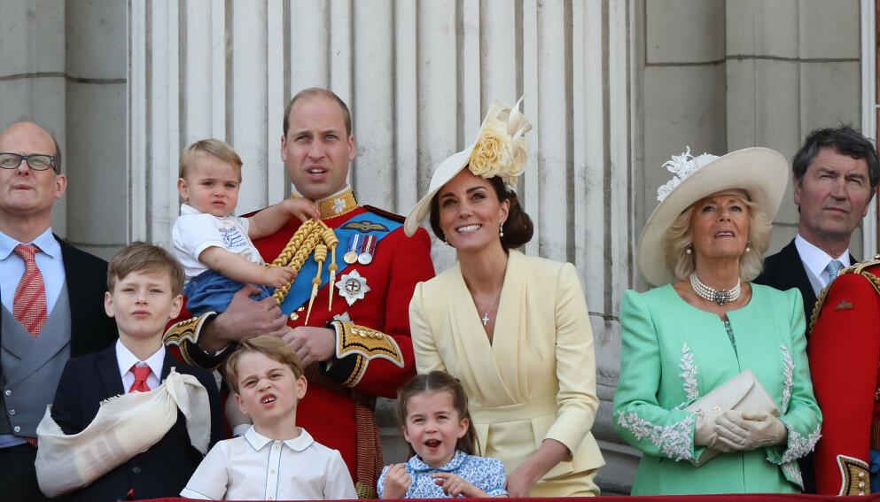 2019: Slik så det ut da dronningen markerte sin offisielle bursdag i 2019. William og Kate har måttet droppe årets feiring grunnet pandemien. Foto: Paul Marriott / Splash News / NTB