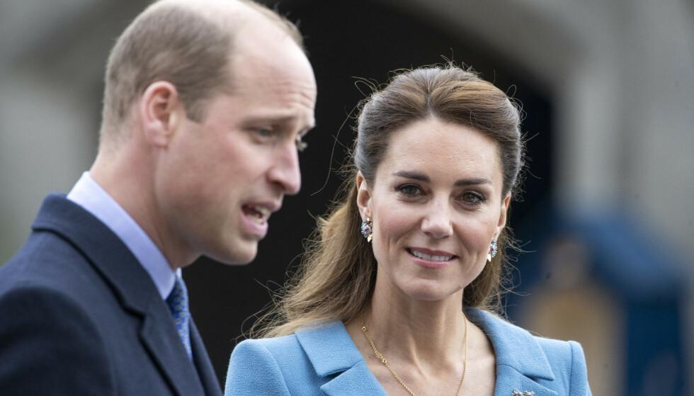 STØTTER DANSKEN: Prins William og hertuginne Kate sender varme tanker til Eriksen. Foto: Jane Barlow/Pa Photos/NTB