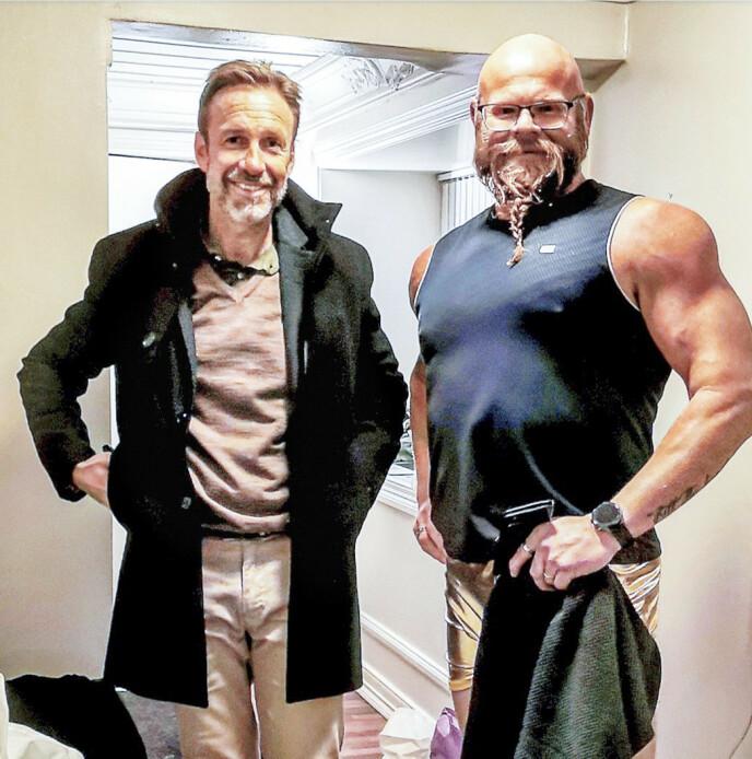 HELT PERFEKT: Thomas Giertsen (49) sørget for at Kjell Eivind ble med i en episode av TV-serien «Helt perfekt». Foto: Privat