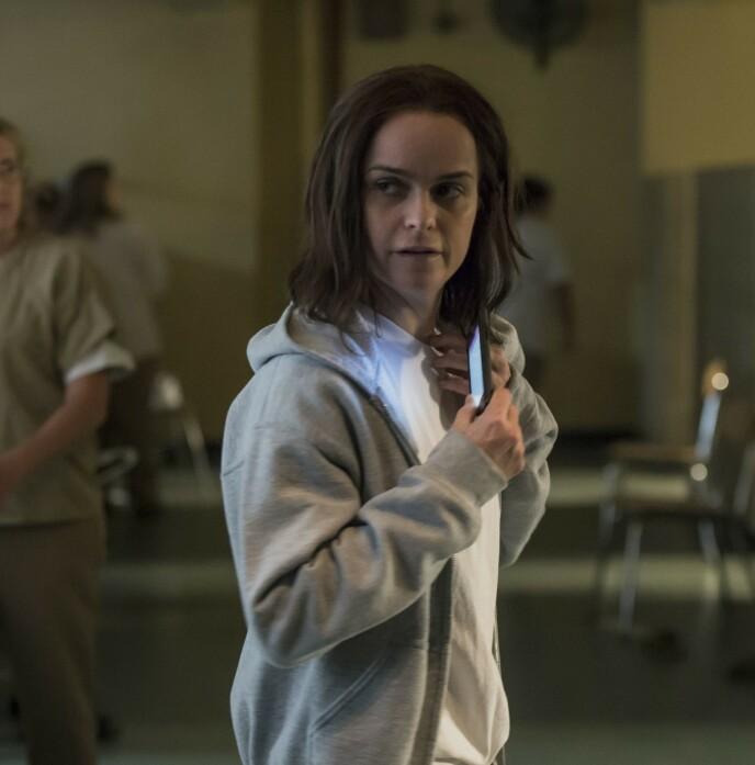 STOR STJERNE: Taryn Manning spiller Tiffany «Pennsatucky» Doggett i suksess-serien «Orange Is the New Black». Foto: Jojo Whilden / Netflix / Kobal / REX