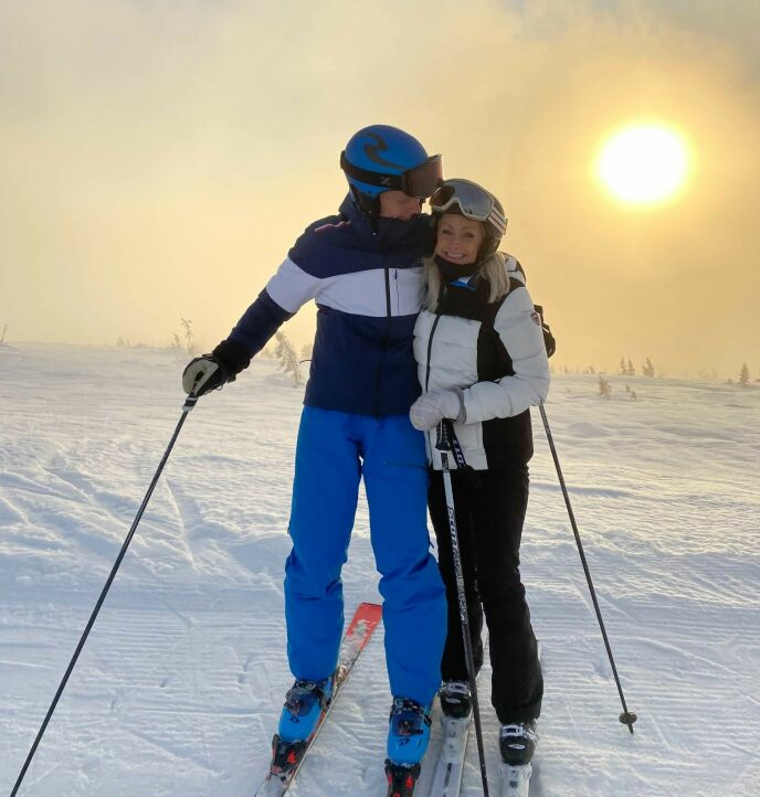 FANT LYKKEN: Merete og Anders fant hverandre i april i fjor. Foto: Privat