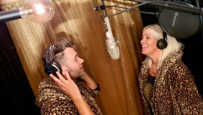 EGET STUDIO: «Villa Love» har hatt plass til alt paret kan drømme om, til og med eget innspillingsstudio. Foto: Bjørn Bjørkli