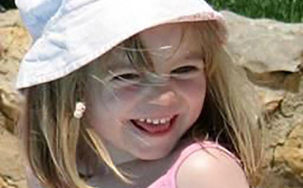 FORSVANT: Tre år gamle Madeleine McCann forsvant i Portugal i 2007. Foto: AFP / NTB