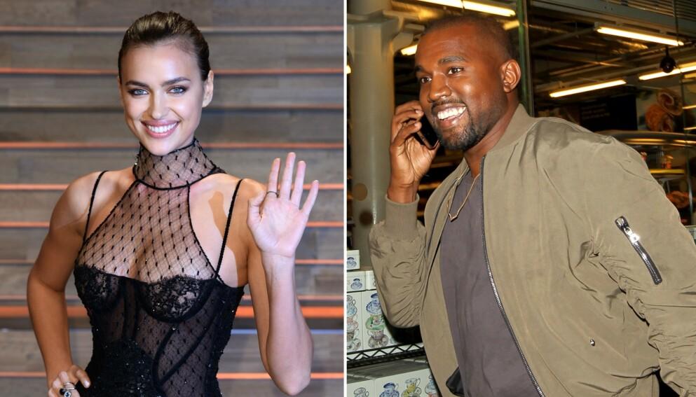 NYTT PAR: Romansen mellom Irina Shayk og Kanye West er Hollywoods heteste snakkis for tiden. Foto: David Fisher/REX/Beretta/Sims/NTB