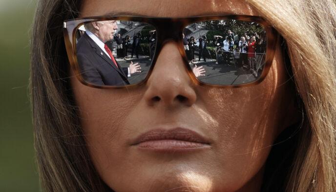 I SKYGGEN: Melania Trump har tilsynelatende trukket seg helt tilbake. Foto: Pablo Martinez Monsivais / AP Photo / NTB