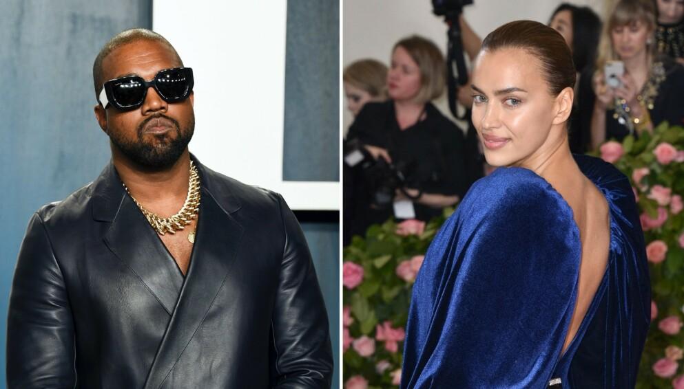 HETT: Kanye West og Irina Shayk skaper stadig nye overskrifter. Foto: Evan Agostini/Invision/AP/Lionel Hahn/ABACAPRESS.COM/NTB