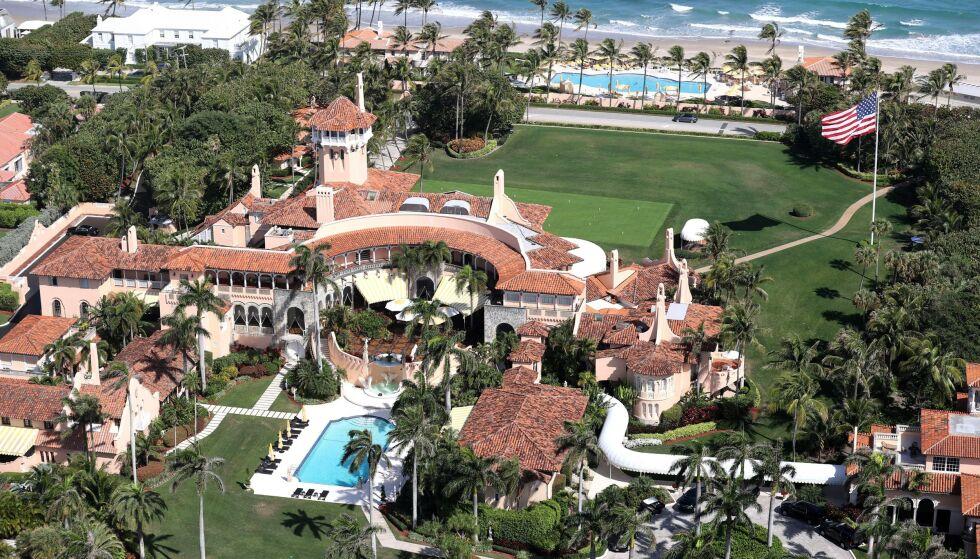 Mar-a-Lago: Melania og Donald Trump har bosatt seg her, i solfylte Florida, etter presidentperioden. Foto: MediaPunch / Shutterstock / NTB