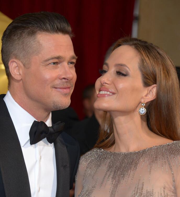 HETT PAR: Brad Pitt og Angelina Jolie var kanskje det heteste paret i verden fram til skilsmissen i 2016. Foto: Stewart Cook / REX / NTB