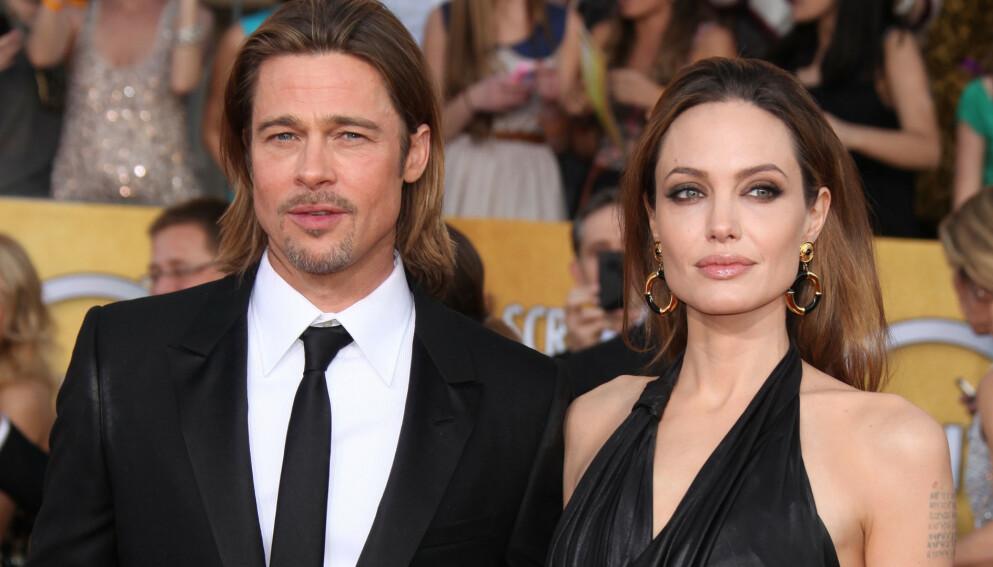 I RETTEN: Eksparet Angelina Jolie og Brad Pitt krangler fortsatt om hvem forsørgeransvaret for barna. Her er de avbildet i 2016. Foto: Jen Lowery / Splash News / NTB