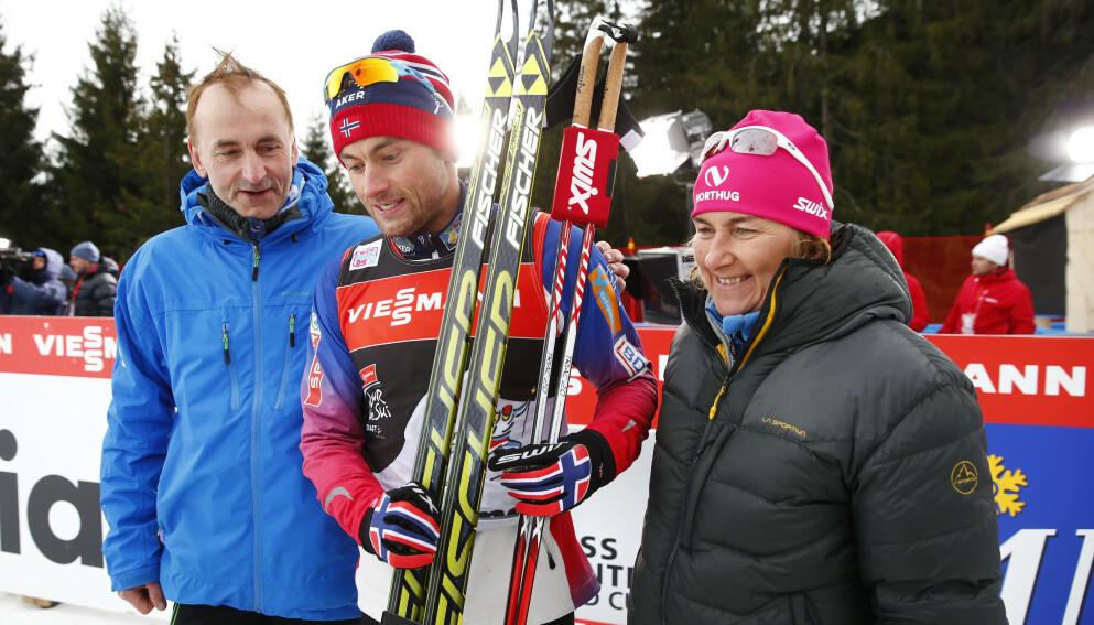 I SORG: Familien Northug omtaler Snåsamannen som en stor mann etter at han gikk bort fredag formiddag. Foto: Heiko Junge / NTB