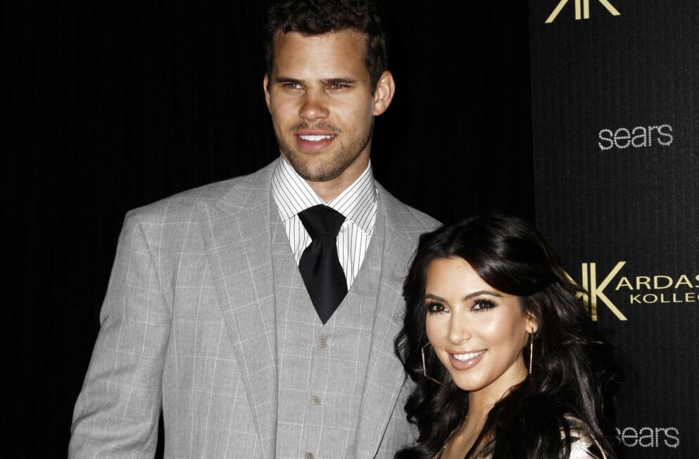 ISFRONT: Ekteskapet mellom Kris Humphries og Kim Kardashian tok slutt etter bare 72 dager. Foto: Matt Sayles/NTB