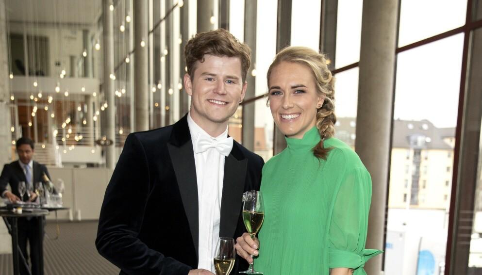 BLE FORELDRE: Nicolay Ramm og forloveden Josephine Leine Granlie. Foto: Andreas Fadum / Se og Hør
