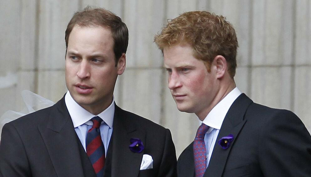 DEN GANG DA: Prins William og prins Harry var tidligere tilsynelatende uadskillelige. Nå skal stemningen være en helt annen. Foto: AFP/NTB