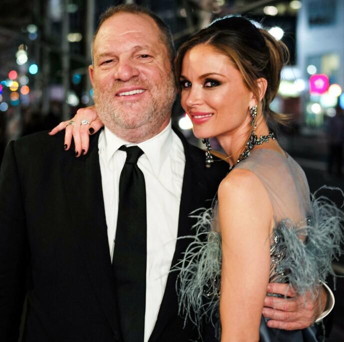 SKILT ETTER SKANDALEN: Harvey Weinstein og Georgina Chapman er historie etter MeToo-bevegelsen. Foto: David X Prutting/REX/NTB