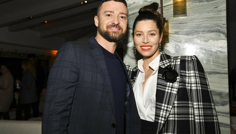 OVERRASKER: Justin Timberlake overrasker når han deler første glimt av hans og Jessica Biels yngste sønn. Foto: Rodin Eckenroth / Getty Images / AFP / NTB