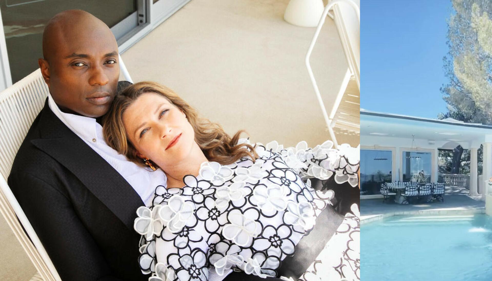 LUKSUS: Durek har funnet en luksusvilla i Los Angeles, og etter det Se og hør kjenener til, skal Märtha og barna flytte inn. FOTO: Vanity Fair/@shamandurek/Instagram