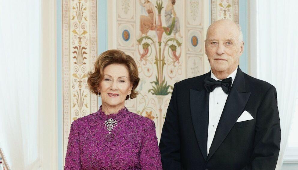 30 ÅR: I dag er det 30 år siden dronning Sonja og kong Harald ble signet. Foto: Jørgen Gomnæs / Det Kongelige Hoff