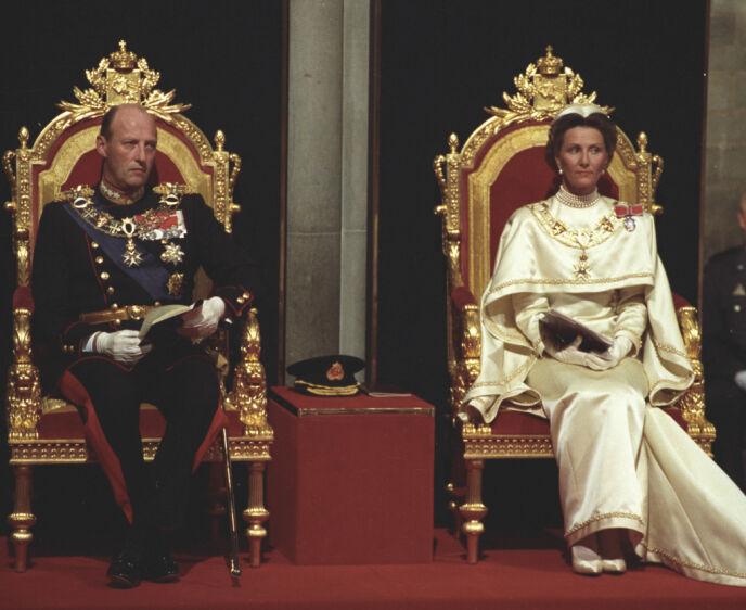 BLE SIGNET: På denne dagen for 30 år siden, ble kongen og dronning signet. Foto: Lise Åserud / NTB