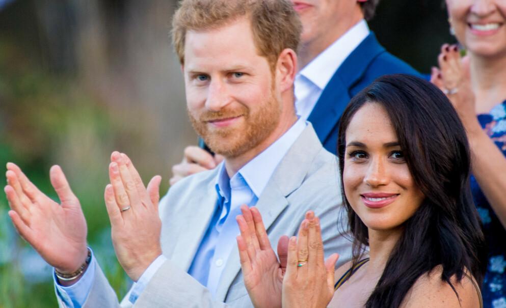 MEGHAN GRAVID: Prins Harry og Meghan har fått to barn, og trolig er det slutt på å utvide familien. Foto: NTB