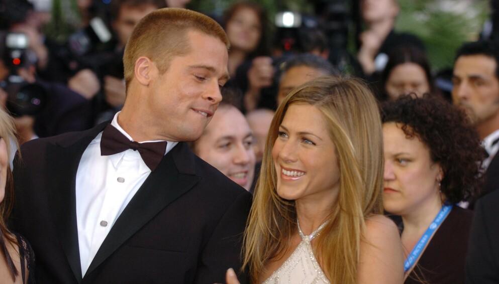 POPULÆRT PAR: En hel verden ble knust da de fikk høre om bruddet mellom Hollywood-yndlingene Brad Pitt og Jennifer Aniston i 2005. Foto: Alan Davidson/REX/NTB