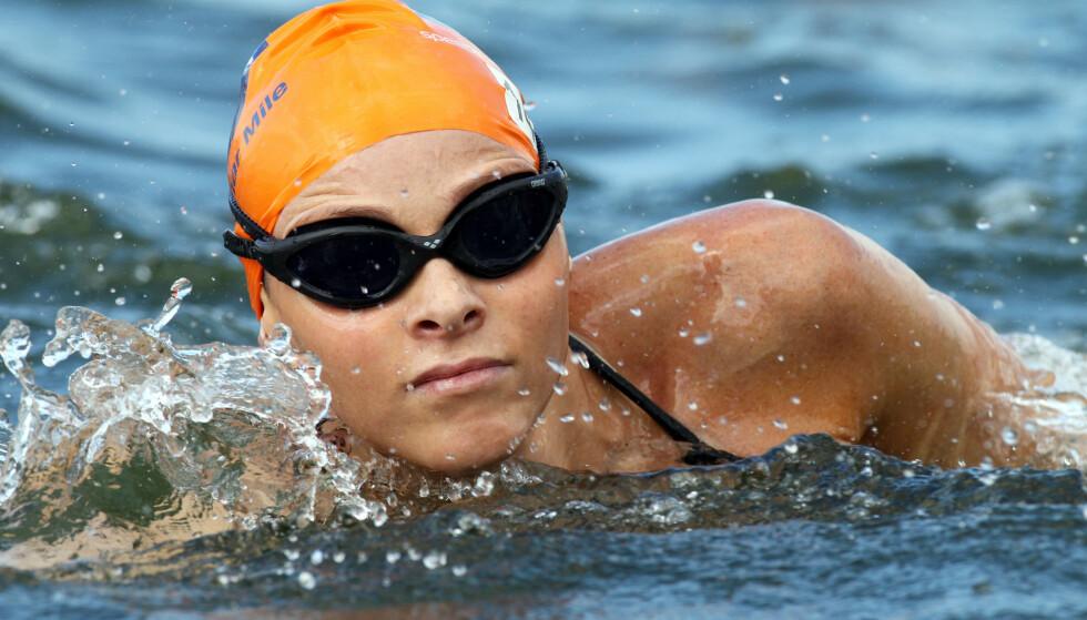 SVØMMETALENT: Charlene Wittstock ønsket tidlig å satse på en svømmekarriere. Foto: Willi Schneider / REX / NTB