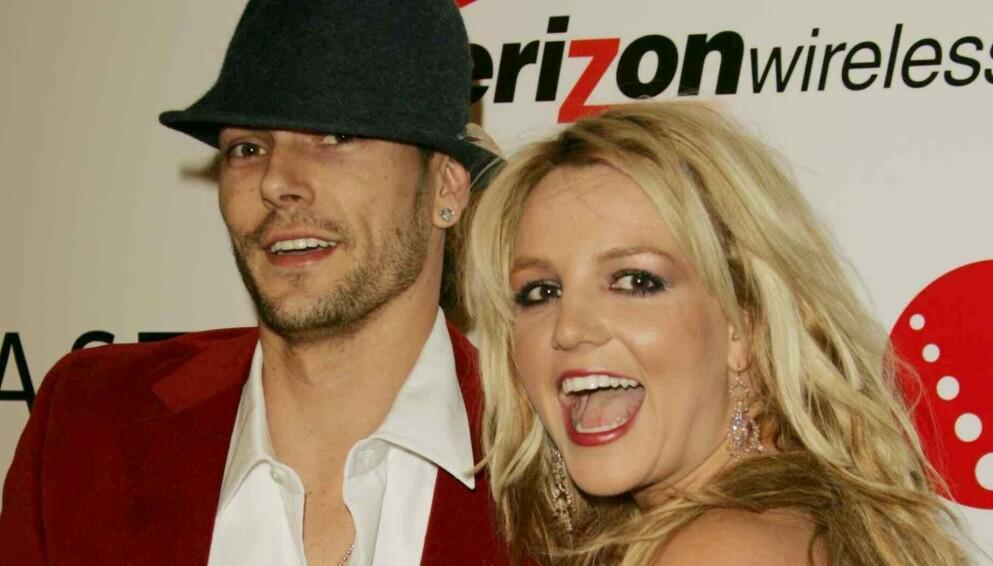 STØTTER EKSKONA: Kevin Federline og Britney Spears hadde et svært offentlig forhold og er foreldre sammen til to gutter. Foto: Matt Baron/BEI/REX/NTB
