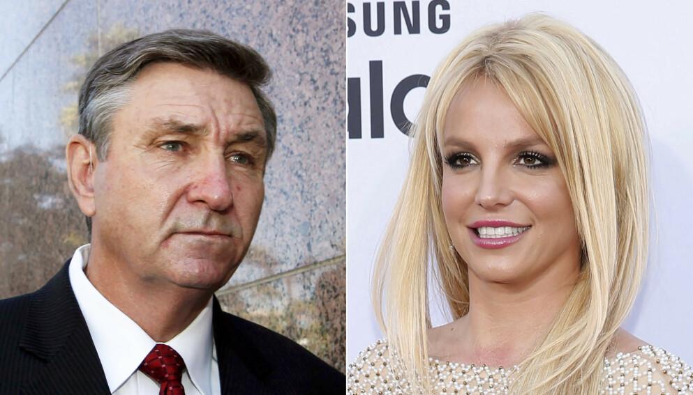 VERGE: Siden 2008 har faren Jamie Spears kontrollert et omstridt vergemål over popstjernedattera Britney Spears. Foto: AP Photo