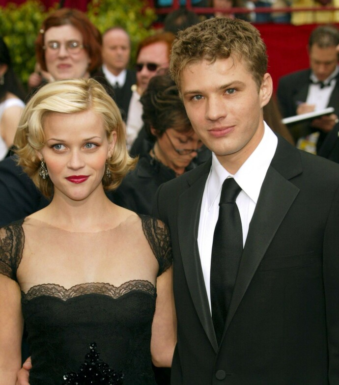 UNGE: Reese Witherspoon og Ryan Philippe under Academy Awards i 2002. Paret skilte seg i 2007, etter åtte års ekteskap. Foto: Peter Brooker/REX/NTB