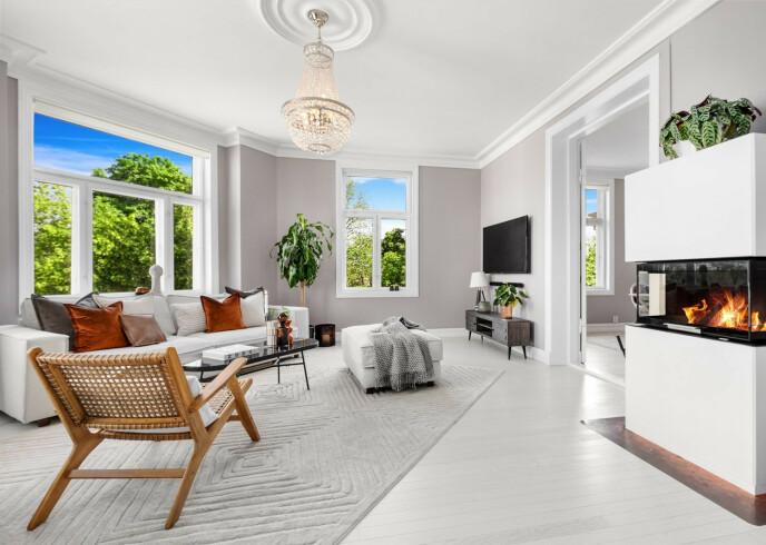 NYTT HJEM: Sophie Elise har punget ut for denne leiligheten. Foto: Eiendomsfoto AS/Nordvik Bygdøy Allé