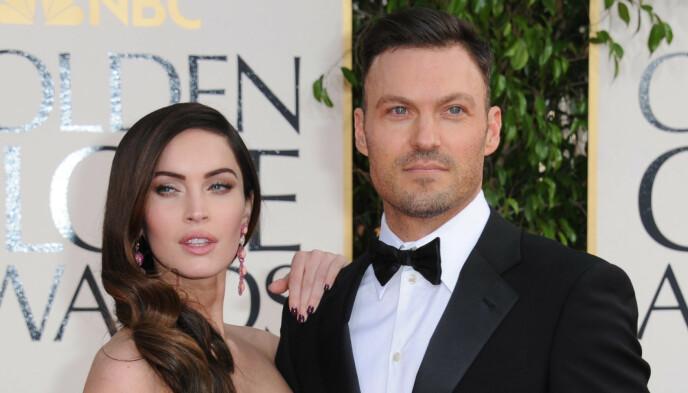 SKILT: Megan Fox og Brian Austin Green var gift i ti år før de skilte seg i fjor. Foto: Jordan Strauss/Invision/AP/NTB