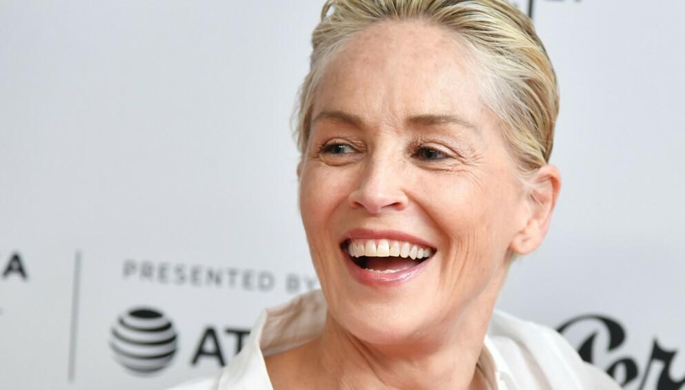 ROMANSERYKTER: Amerikanske medier hevdet forrige uke at lykken smiler for Sharon Stone. Nå svarer hun selv. Her avbildet i New York sist måned. Foto: Stephen Lovekin/ Shutterstock/ NTB