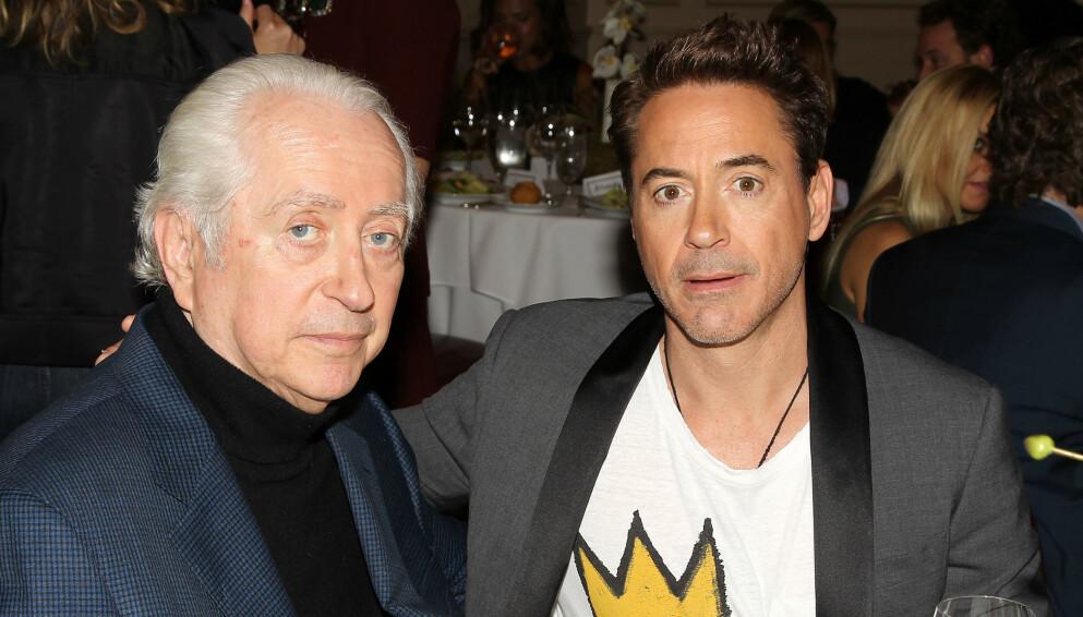 DØD: Robert Downey Sr er død. Her sammen med Hollywood-stjernen og sønnen Robert Downey Jr i 2014. Foto: Dave Allocca/ Starpix/ REX/ NTB