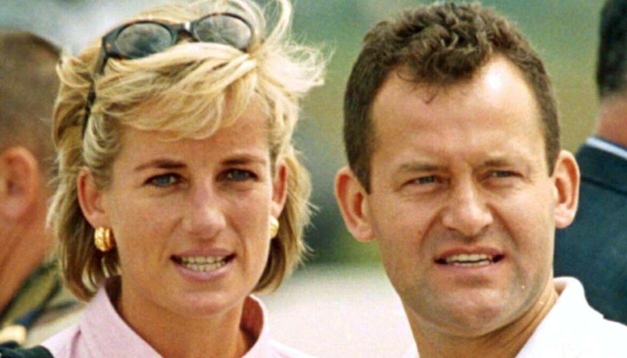 BETRODD MEDARBEIDER: Prinsesse Diana og butleren Paul Burrell delte mange hemmeligheter. Noen tok Diana med seg i graven - andre er tatt opp på forsvunnede lydbånd. Foto: NTB.