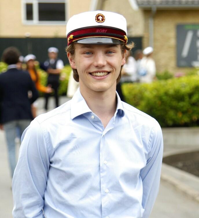 UNG PRINS: Felix ble ferdig med videregående i juni, og skal i militæret til høsten. Foto: Christophersen / PPE / SIPA / Shutterstock / NTB