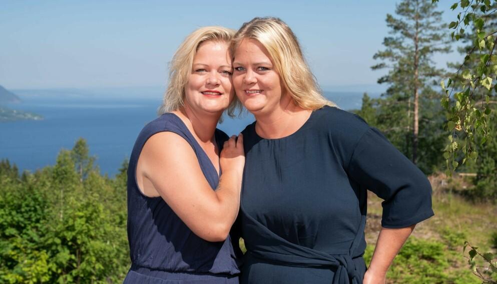 GLADE DAGER: Tvillingene Trine og Trude Rishaug Lium var å se på TV 2 denne våren. Nå deler førstnevnte en hyggelig nyhet. Foto: Espen Solli / TV 2