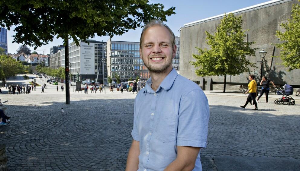 BABYLYKKE: Kristjánsson og forloveden har fått sin andre datter. Foto: Kristian Ridder-Nielsen / Dagbladet