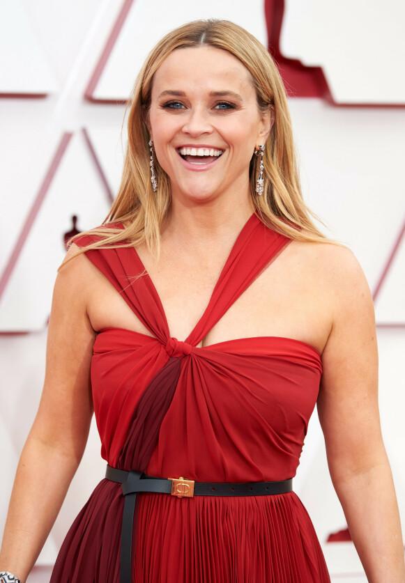 OSCAR: Reese Witherspoon under Oscar-utdelingen i 2021. Selv har hun tidligere fått en Oscar for sin tolkning av June Carter i filmen «Walk the Line», og Johnny Cash' liv. Foto: Matt Petit / Shutterstock Editorial / NTB
