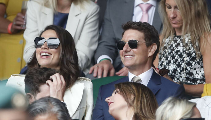 LYSTIG LAG: Hayley og Tom på tennis denne helgen. Duoen så ut til å kose seg i hverandres selskap. Foto: Reuters/NTB