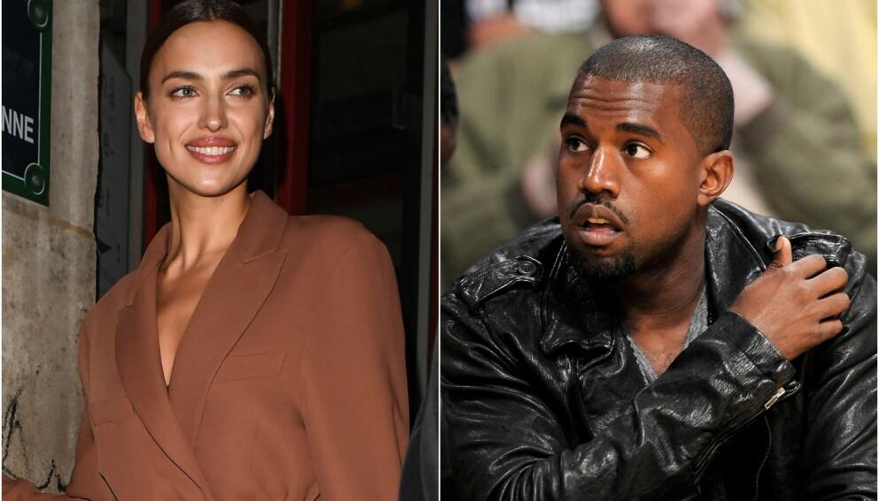 ROMANSERYKTER: Kanye West og Irina Shayk har vært på flørtern i noen måneder. Nå hevder imidlertid en kilde at forholdet har kjølnet. Foto: Beretta /Sims / Shutterstock / Mark J. Terrill / AP Photo / NTB