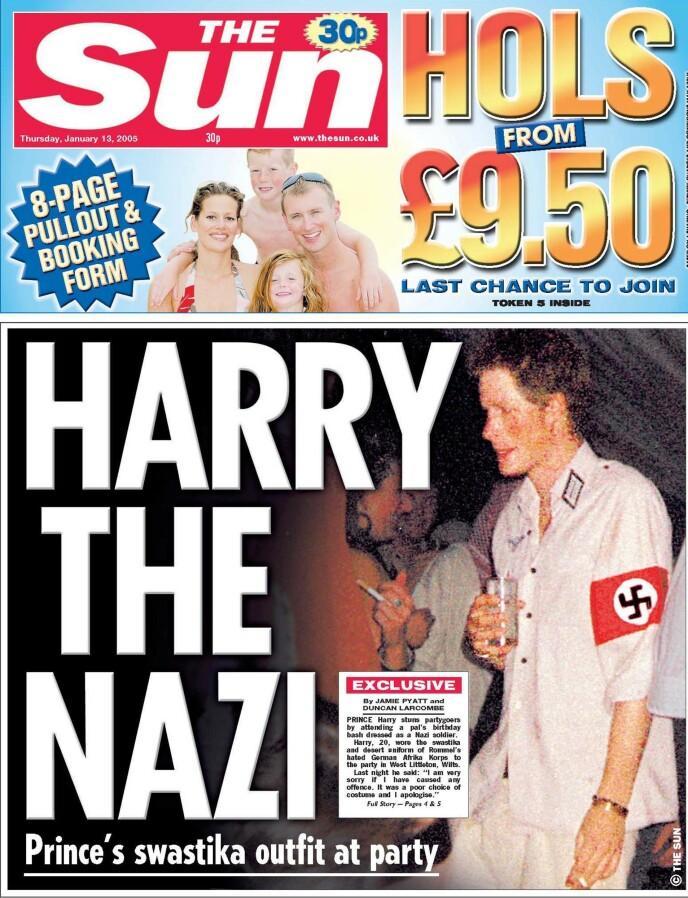 FORSIDEN: Slik så forsiden til britiske The Sun ut. Foto: The Sun / NTB
