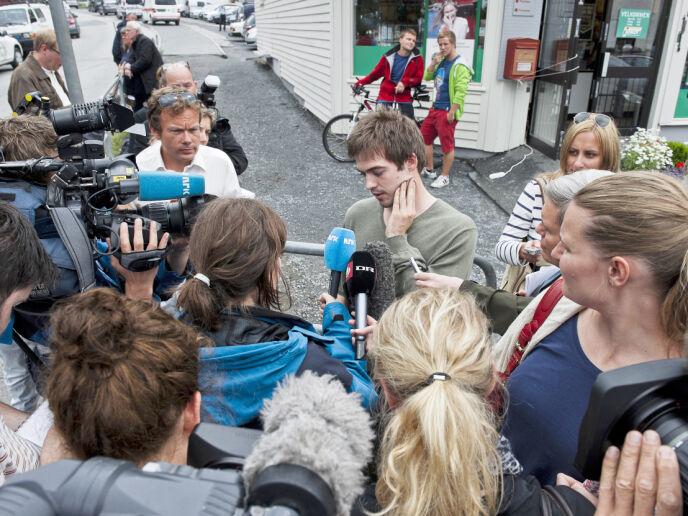 OVERLEVDE: Torbjørn Vereide overlevde massakren på Utøya og var en av de første som fortalte pressen hva som skjedde på AUFs sommerleir for ti år siden. Foto: Aleksander Andersen / NTB