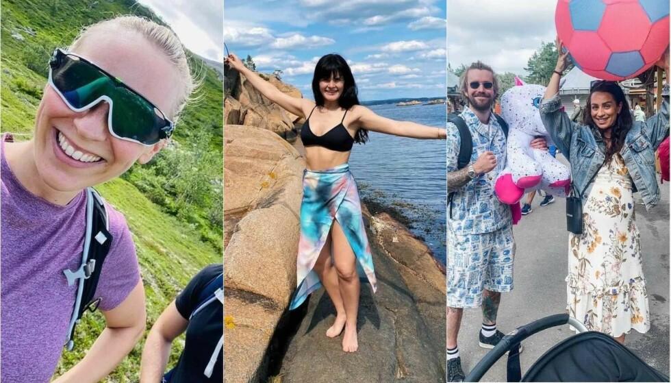 FERIEMODUS: Flere av landets kjendiser har for lengst startet sommerferien. Foto: Skjermdump fra Instagram