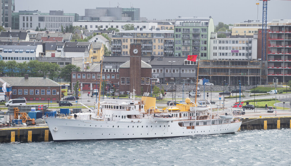 BODØ: Kongeskipet Norge ligger nå til kai i Bodø. Foto: Mats Torbergsen / NTB