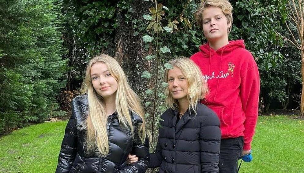 STOLT MOR: Gwyneth Paltrow har barna Apple og Moses med eksmannen Chris Martin. Foto: Instagram