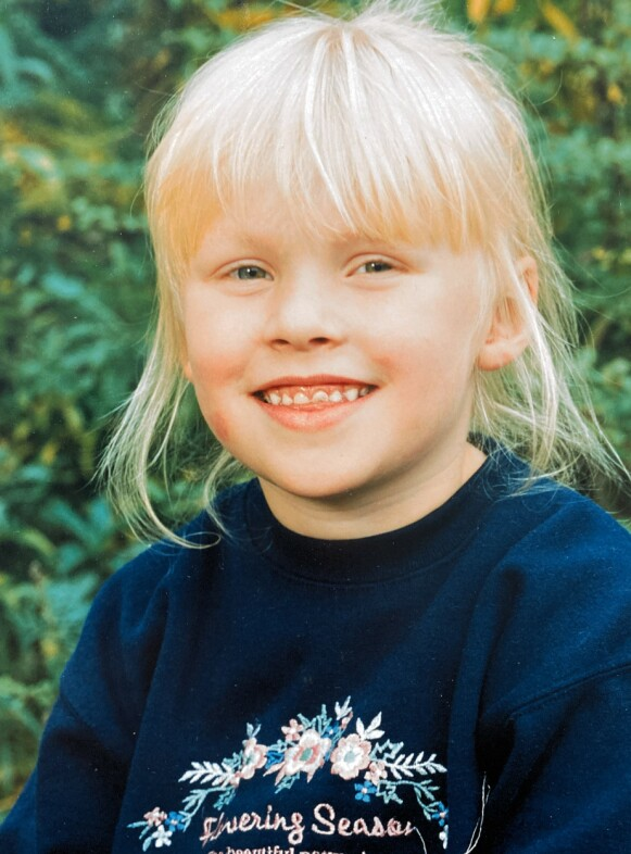 FØDT MED IMMUNSVIKT: Da Madeleine var to og et halvt år gammel fikk familien beskjed om at hun var født uten immunforsvar. Foto: Privat