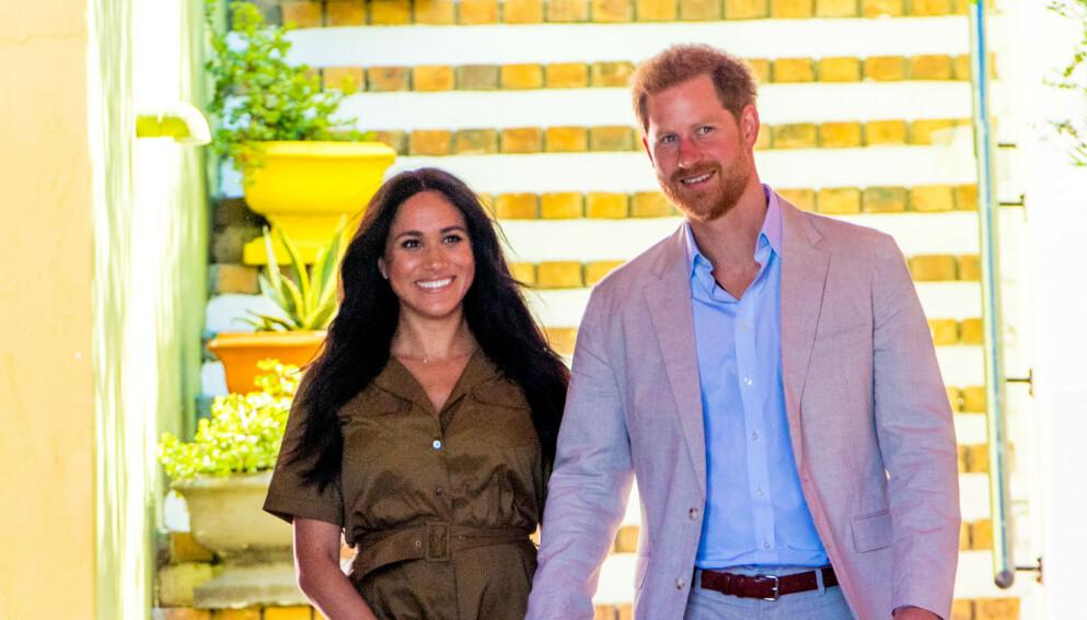 PLANENE KLARE?: Etter alt å dømme ønsker prins Harry og hertuginne Meghan å døpe datteren hjemme i England. Foto: Splash News / NTB