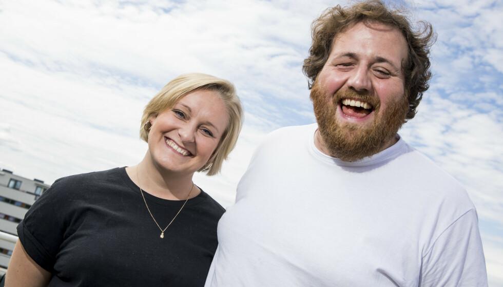 SLUTTER: Ronny Brede Aase (34) er ferdig i NRK. Her med kjæresten og tidligere kollega Tuva Fellman (33). Foto: Håkon Mosvold Larsen / NTB
